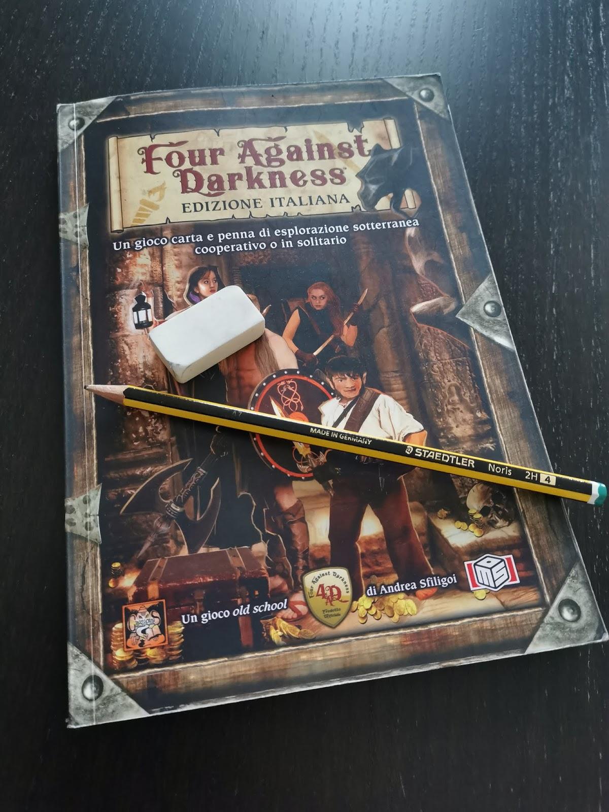 Copertina del gioco di ruolo Four Against Darkness