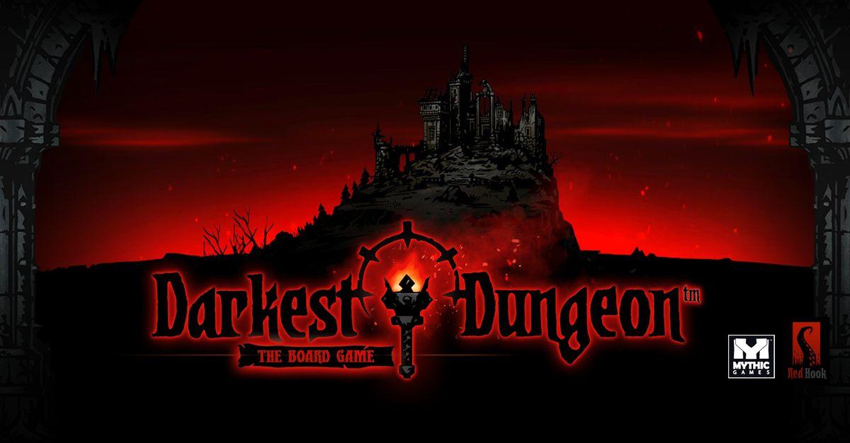 La copertina di Darkest Dungeon il gioco da tavolo