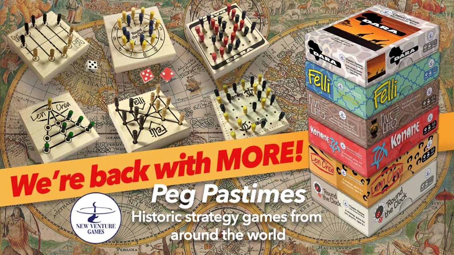 Peg Pastimes sei scatole